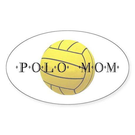Polo Mom Oval Sticker