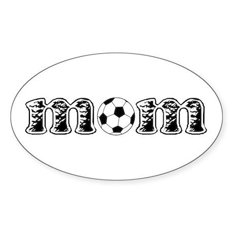Soccer Mom Oval Sticker