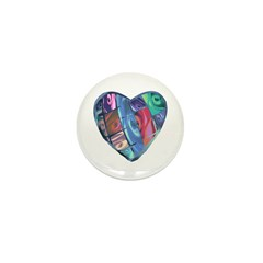 Rose Heart Mini Button (10 pack)