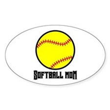Softball Mom Oval Decal