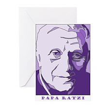 Papa Ratzi New Pope Benedict Purple Greeting Cards