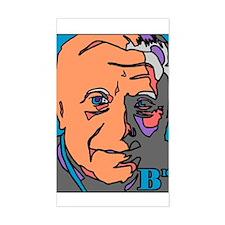New Pope Papa Ratzi Stain Glass Sticker (Rectangul