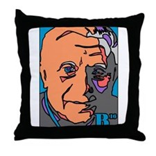 New Pope Papa Ratzi Stain Glass Throw Pillow