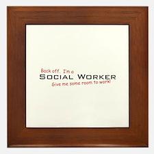 I'm a Social Worker Framed Tile