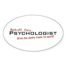 I'm a Psychologist Oval Decal