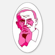 Pope John Paul II Pink Design Oval Decal