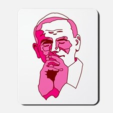 Pope John Paul II Pink Design Mousepad