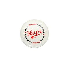 Heart Disease Hope Mini Button