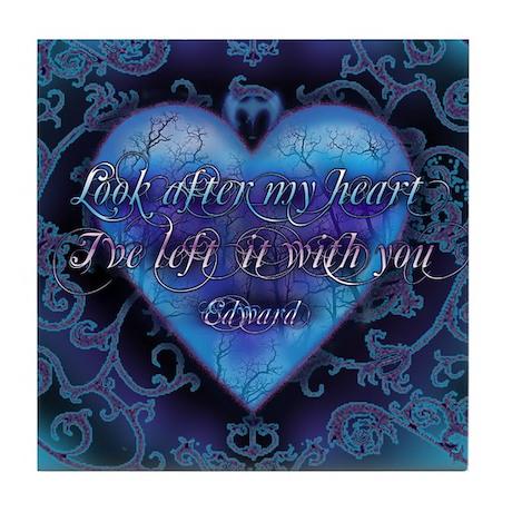 Edward's Heart-Twilight Tile Coaster