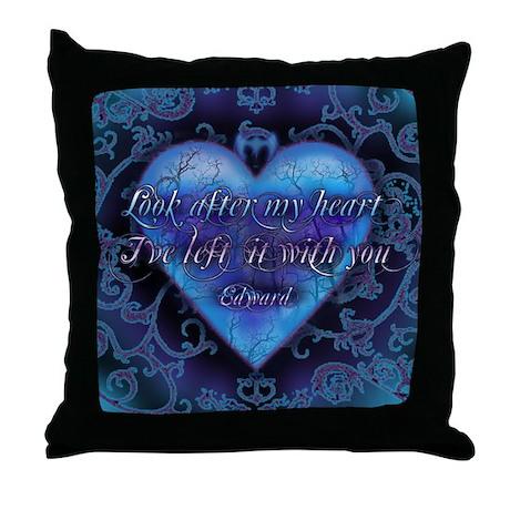 Edward's Heart-Twilight Throw Pillow