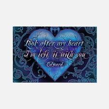 Edward's Heart-Twilight Rectangle Magnet
