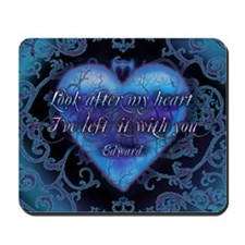 Edward's Heart-Twilight Mousepad