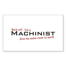 I'm a Machinist Rectangle Decal