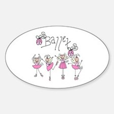 Ballet Oval Decal
