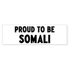 Proud to be Somali Bumper Car Car Sticker