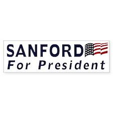 Sanford for President 2012 Bumper Bumper Sticker