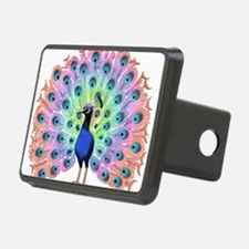 Colorful Peacock Hitch Cover