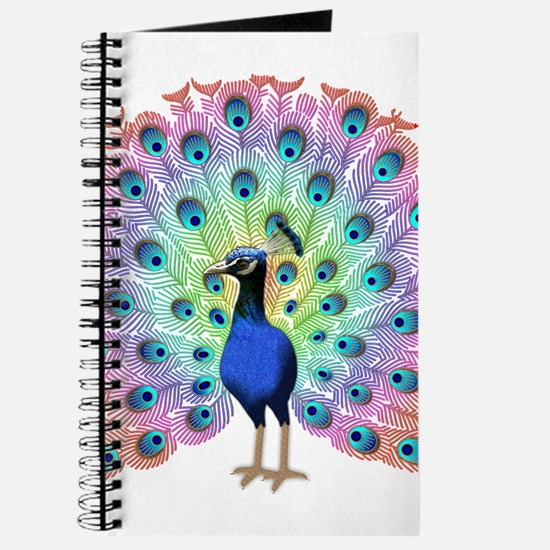 Colorful Peacock Journal