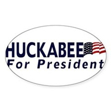 Huckabee for President 2012 Oval Decal