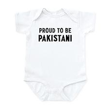 Proud to be Pakistani Infant Bodysuit