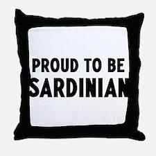 Proud to be Sardinian Throw Pillow