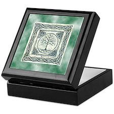 Celtic Tree of Life Green Keepsake Box