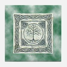 Celtic Tree of Life Knotwork Tile Coaster