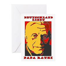 Deutschland Liebt Papa Ratzi Greeting Cards (Packa
