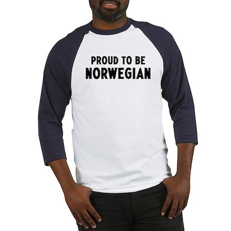Proud to be Norwegian Baseball Jersey