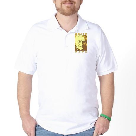 Bravo Papa New Pope Benedict Golf Shirt