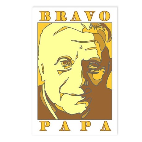 Bravo Papa New Pope Benedict Postcards (Package of