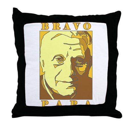Bravo Papa New Pope Benedict Throw Pillow