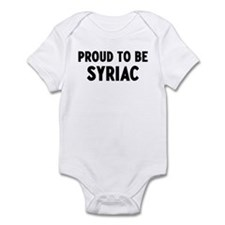 Proud to be Syriac Infant Bodysuit