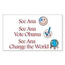 See Ana Vote Obama Rectangle Decal