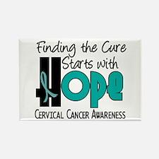 HOPE Cervical Cancer 4 Rectangle Magnet