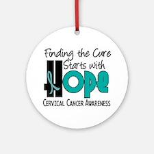 HOPE Cervical Cancer 4 Ornament (Round)