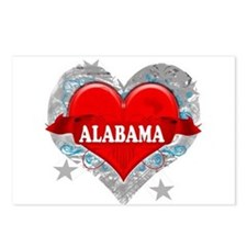 My Heart Alabama Vector Style Postcards (Package o