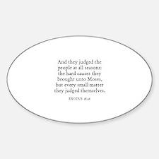 EXODUS 18:26 Oval Decal