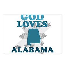 God Loves Alabama Postcards (Package of 8)