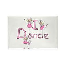 Ballerina I Dance Rectangle Magnet (100 pack)