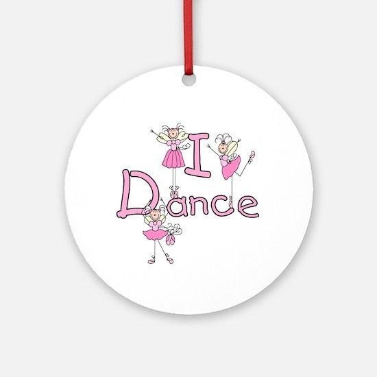Ballerina I Dance Ornament (Round)