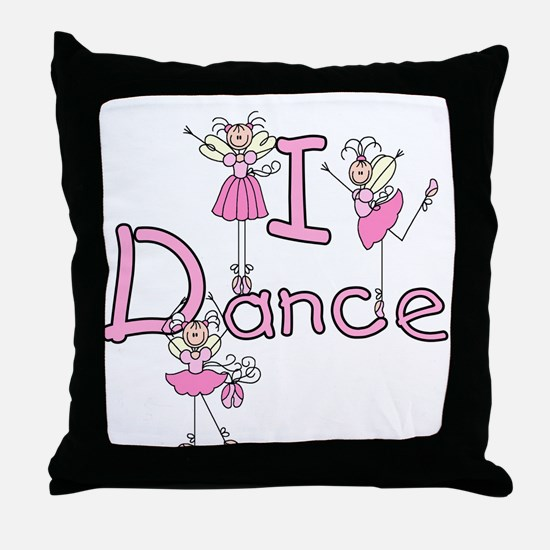Ballerina I Dance Throw Pillow