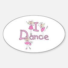 Ballerina I Dance Oval Decal
