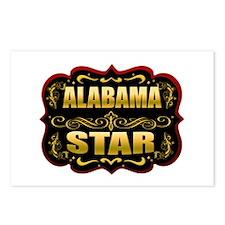 Alabama Star Gold Badge Seal Postcards (Package of