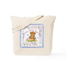 Adorable Teddy Bear Canvas Tote Bag