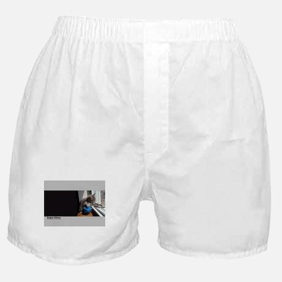 Sniper Kitten Boxer Shorts
