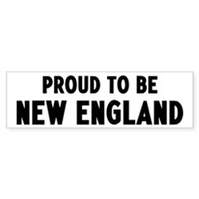 Proud to be New England Bumper Car Sticker