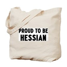 Proud to be Hessian Tote Bag
