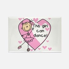 This Girl Can Dance Rectangle Magnet