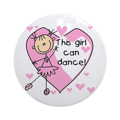 This Girl Can Dance Ornament (Round)